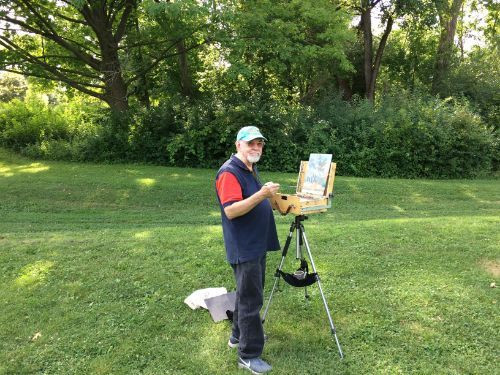 plein air painting, outdoor painting, art, plein air, Fred Bell, Milwaukee artist,