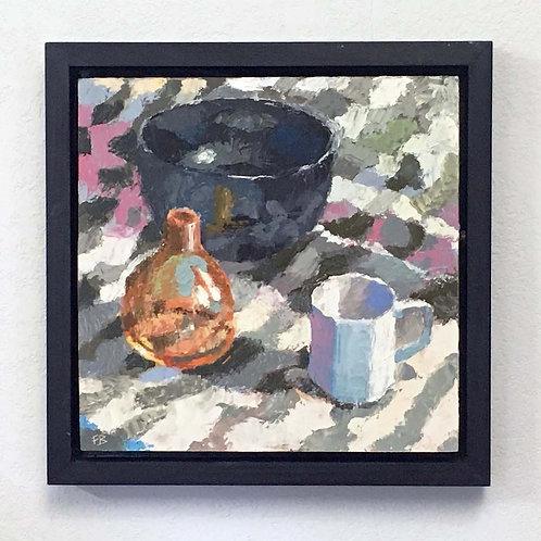 "Bright Day In My Studio, 12x12"" Still Life Painrting"