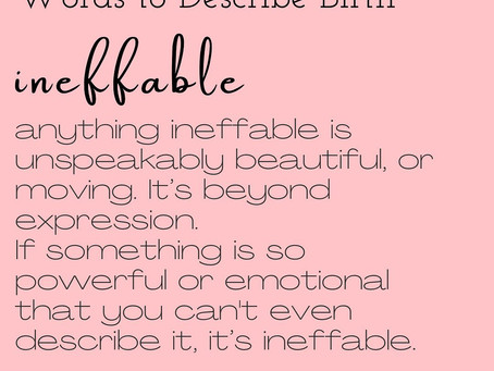 Words to Describe Birth