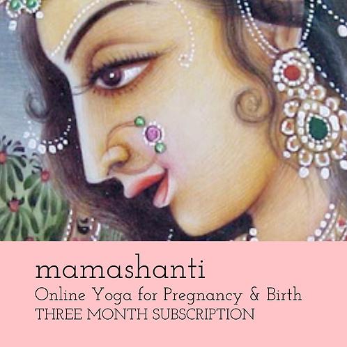 Mamashanti Online Yoga for Pregnancy and Birth