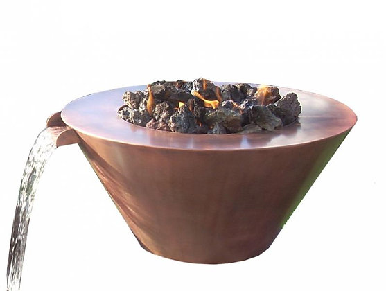 Mesa: Copper Fire & Water Bowl (Complete Bowl)