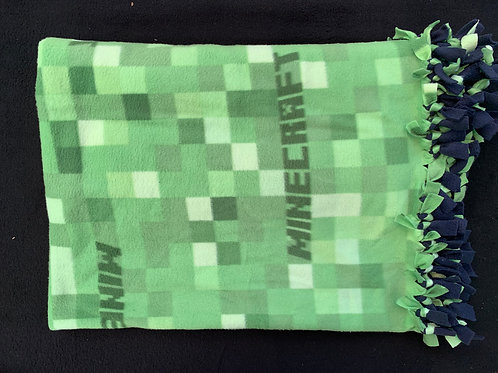 Minecraft Double Knotted Fleece Blanket