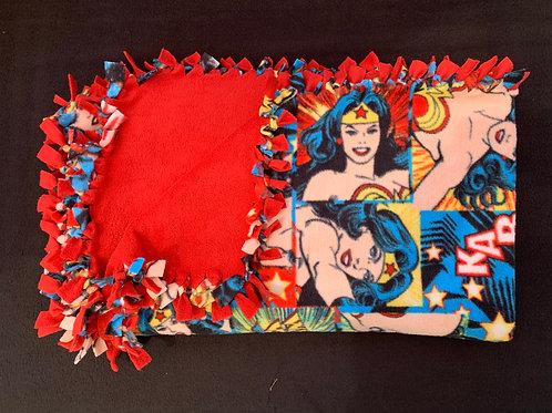 Wonderwoman Double Knotted Fleece Blanket