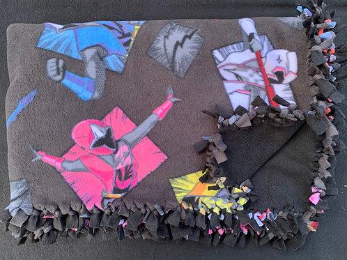 Power Rangers Double Knotted Fleece Blanket