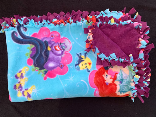 The Little Mermaid Double Knotted Fleece Blanket
