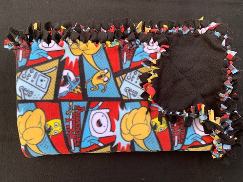 Adventure Time Double Knotted Fleece Blanket