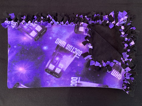 Doctor Who Double Knotted Fleece Blanket