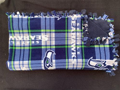 Seattle Seahawks Double Knotted Fleece Blanket