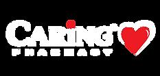 Caring Logo_Horizontal_White&GreenBase_C