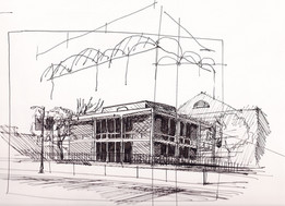 Administration Building, University of Southern California Ink on Paper
