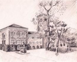 Bovard Auditorium, University of Southern California 2B Graphite on Paper