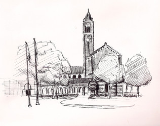Mudd Hall of Philosophy, University of Southern California Ink on Paper