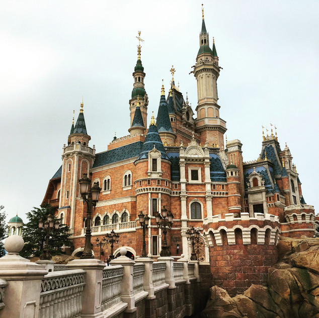 Shanghai Disneyland castle. Ask my about my experience on opening day.