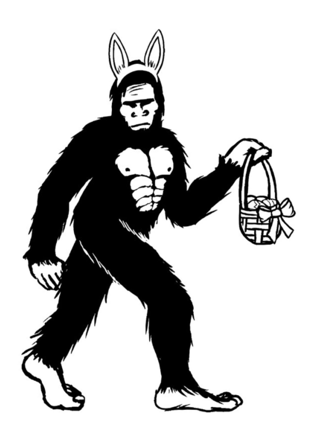 Easter Bigfoot