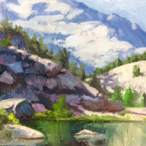 "Mykaela McGrew-Higgins, ""Sierra's,"" 2017, oil on canvas, 10x10 in. photo: the artist"