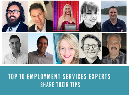 TOP 10 EMPLOYMENT SERVICES EXPERTS SHARE THEIR TIPS