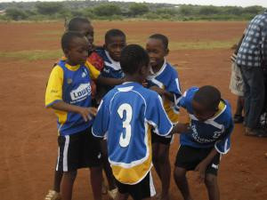 Kids having fun in Botswana- another Second Kicks destination