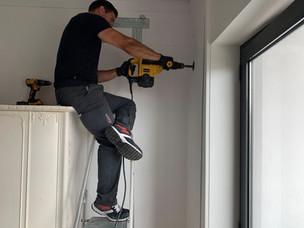 Perfuração para instalar ar condicionado