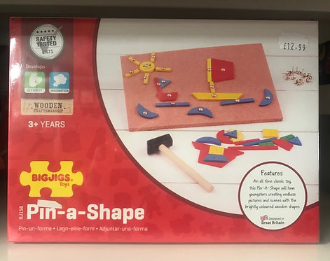 Pin A Shape Wooden Puzzle by BIGJIGS on Localy.co.uk (GX1)