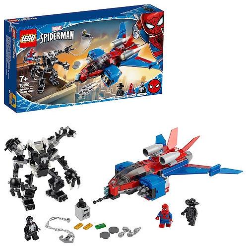 Lego Marvel 76150 Super Heroes Spiderjet vs. Venom Mech at JJ Toys