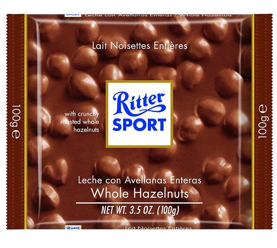 Ritter Sport 100g Milk Chocolate with Whole Hazelnut at Cardella (GX1)