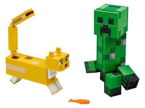 Lego Minecraft 21156 BigFig Creeper and Ocelot at JJ Toys