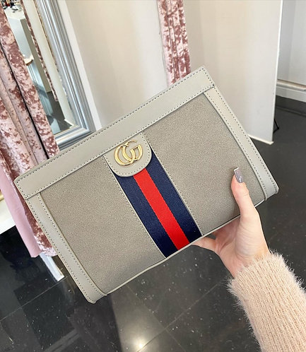 Grey CG Clutch Bag at Blush Boutique (GX)