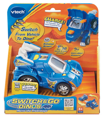 Vtech Switch & Go Dinos Horns the Triceratops -122403