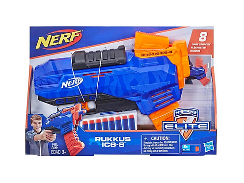 NERF N-Strike Elite Rukkus ICS-8 Blaster at JJ Toys