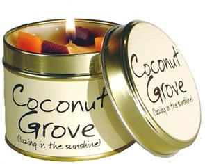 Lily Flame Coconut Grove Scented Candle at Cardella (GX1)