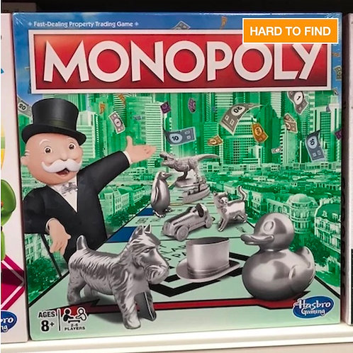 Monopoly Classic Original Game by Hasbro Gaming - HARD TO FIND (GX1)