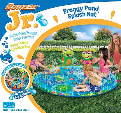 BANZAI JR 13690 Froggy Pond Water Splash Mat (Localy GX1)