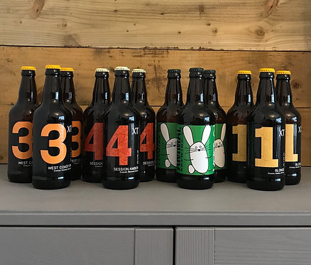 Box of 12 x 500ml Craft Beers with Free Glass & Free Next Day Local Delivery