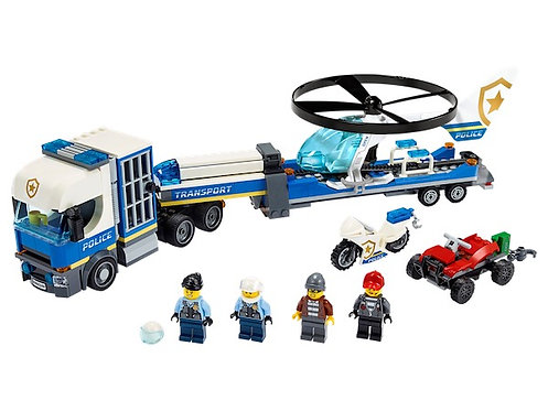LEGO City 60244 Police Helicopter Transport at JJ Toys