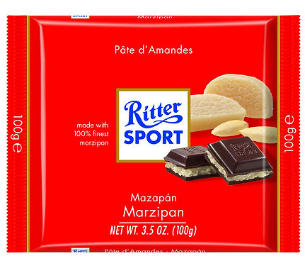 Ritter Sport 100g Dark Chocolate with Marzipan at Cardella (GX1)