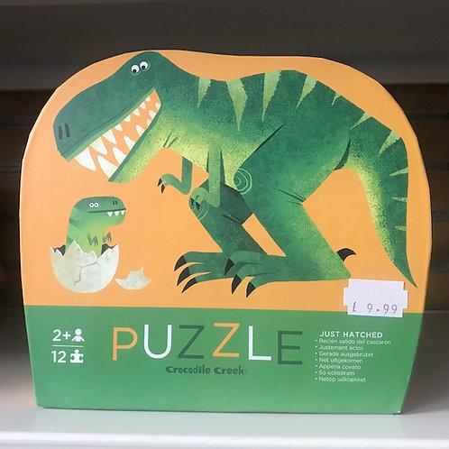 Just hatched Dinosaur 12 piece Jigsaw Puzzle by Crocodile Creek (GX1)