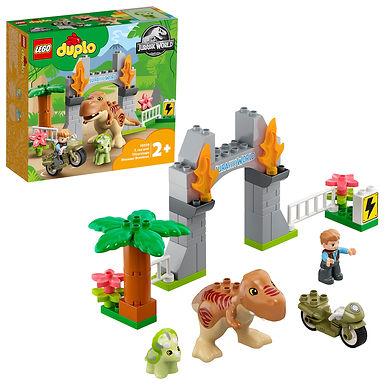 LEGO DUPLO 10939 Jurassic World T. Rex and Triceratops Dinosaur Breakout