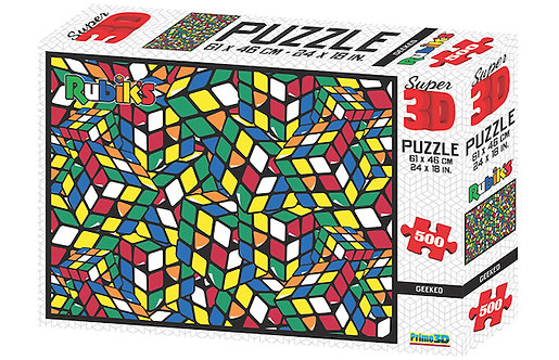 Rubik's Geeked Super 3D 500 piece puzzle at JJ Toys