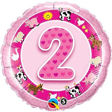 2nd Birthday No.2 Foil Balloon at Cardella (GX1)