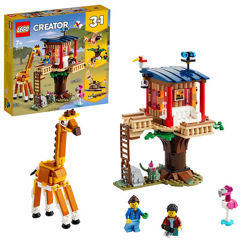 LEGO Creator 3-in-1 31116 Safari Wildlife Tree House