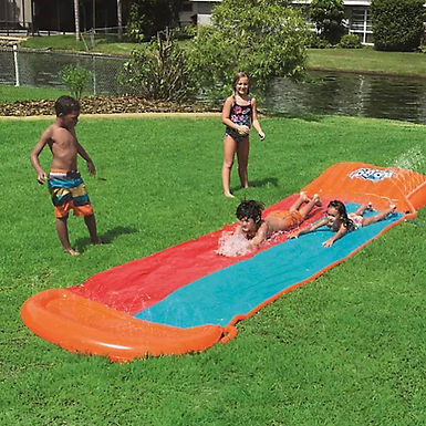 Bestway H2O-GO Double Water Slide with Inflatable Speed Ramp on Localy (GX1)