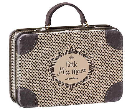 Maileg Little Miss Mouse Metal Travel Suitcase at Ring O'Roses (Old Amersham)