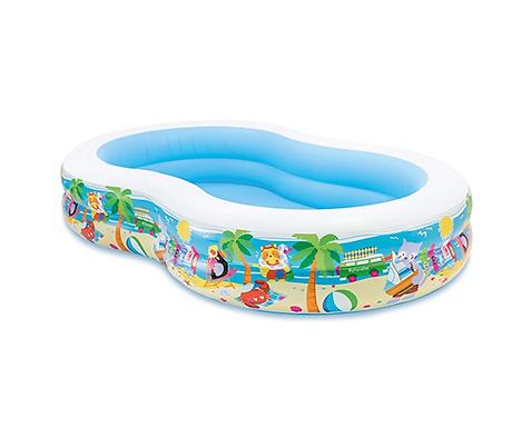 Intex 56490NP Swim Centre Paradise Seaside Pool - white/blue at JJ Toys