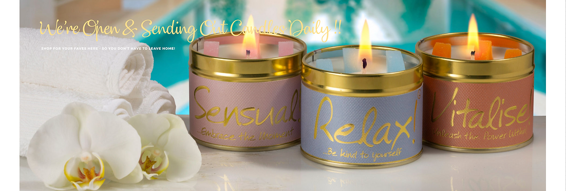 Lily Flame Scnted Candles Page Header Ba