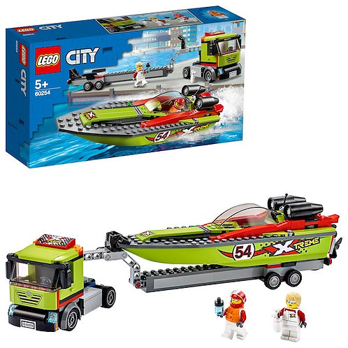 LEGO City 60254 Race Boat Transporter at JJ Toys