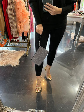 Black Diamante Clutch Bag at Blush Boutique (GX)