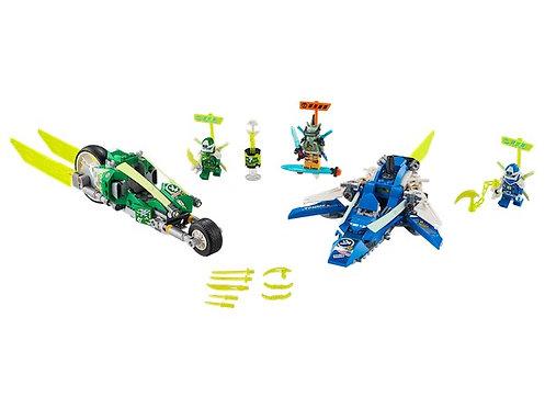 Lego Ninjago 71709 Jay and Lloyd's Velocity Racers at JJ Toys