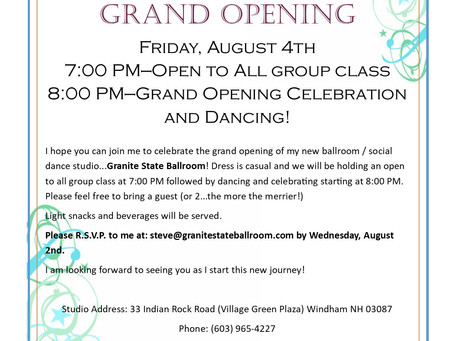 You are invited! Studio Grand Opening: Friday August 4th.