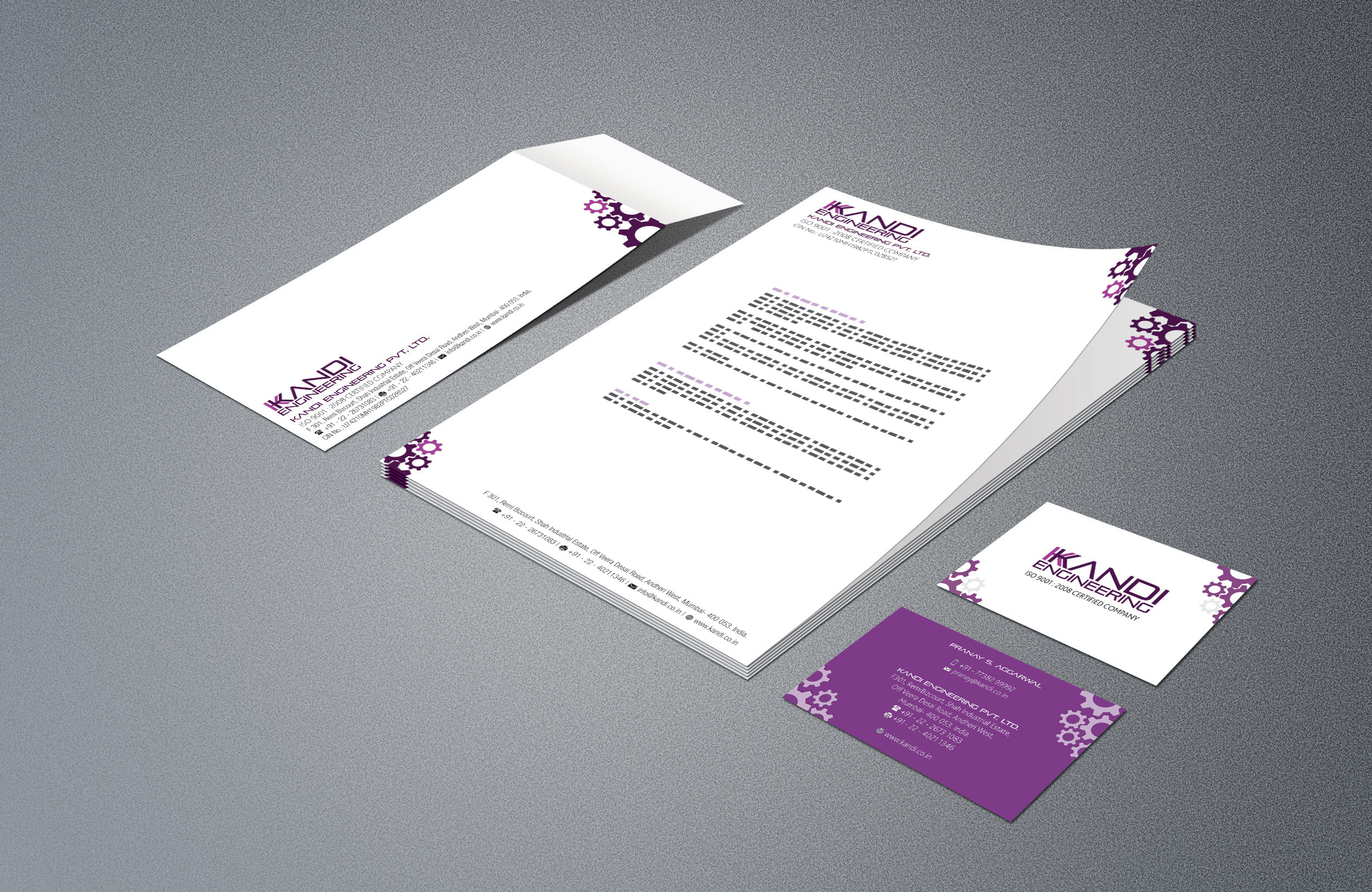 KKANDI_Business Card Letterhead Envelope