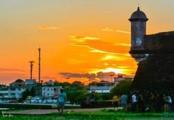 Por do sol na Fortaleza de São José